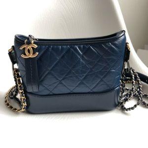 Chanel 19C Small Gabrielle Hobo Bag in Dark Navy